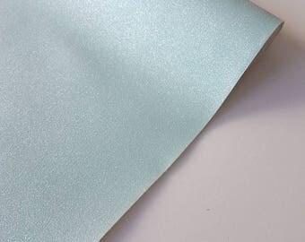 A4 sheet of ice mint fine glitter