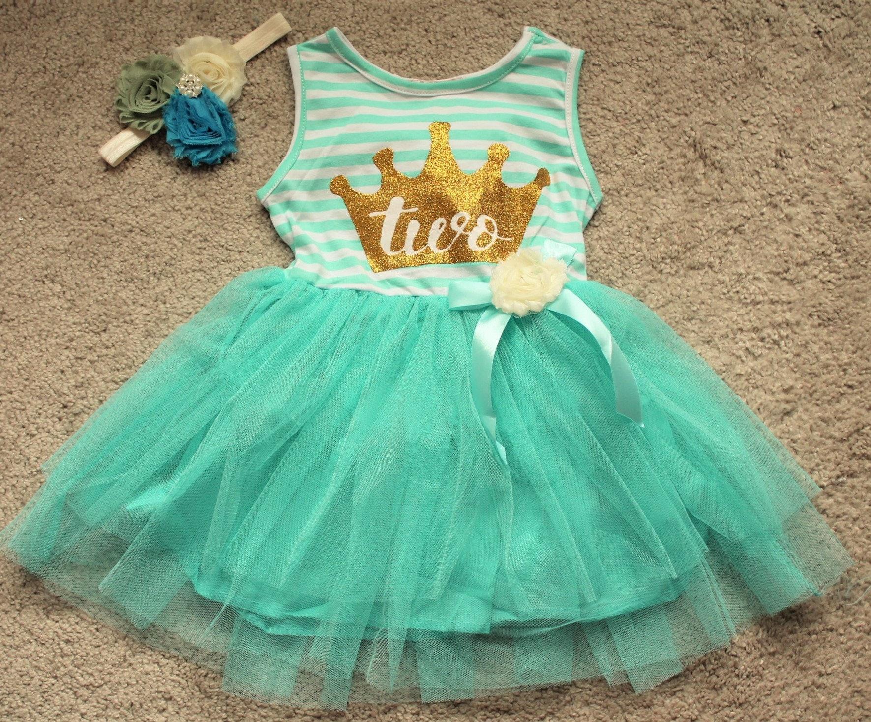 Blue Baby Girl Second Birthday Sleeveless Dress,Infant 24m children ...
