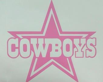dallas cowboys pink etsy