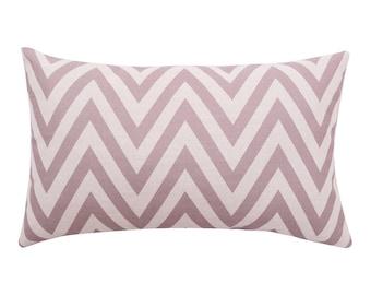 Chevron lumbar pillow covers Stripe decorative pillow cases Modern waist cushion cover Rustic cushion case Sofa couch home decor gift 12x20