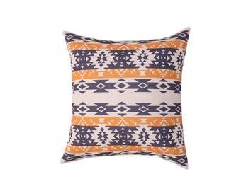 Aztec decorative pillow cover Tribal throw pillow covers Navajo pillow case Ethnic pillow case Geometric cushion cover Sofa home decor 18x18