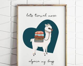50% OFF NEW LUXE alpaca print, llama print, alpaca my bags decor, alpaca printable, alpaca wall decor, digital download