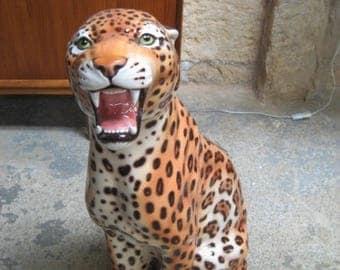 Leopard Italian ceramic