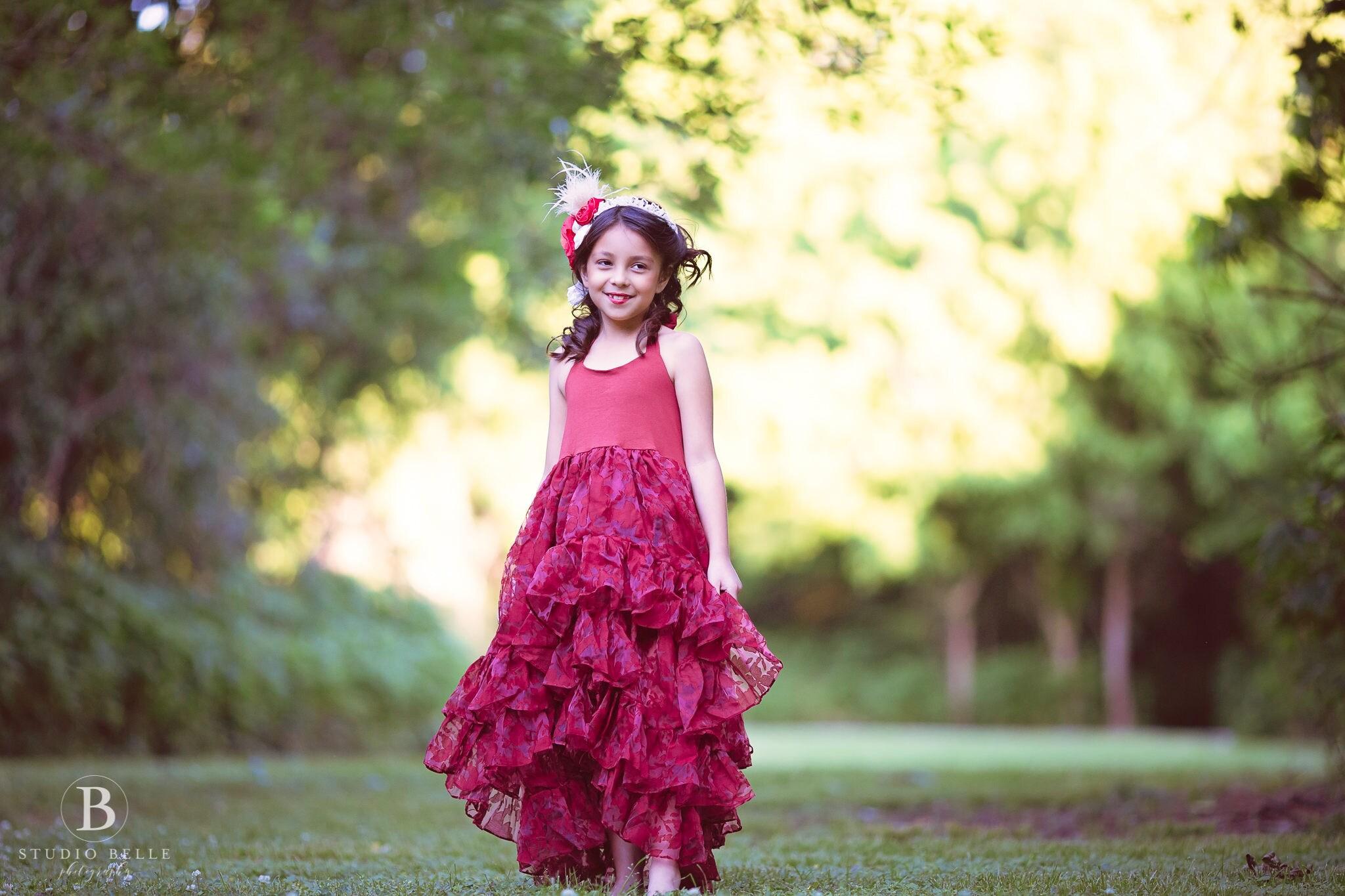 ded4d084efba Girl Toddler Burgundy Princess Dress, Flower Girl Dresses, Girls Hi Lo Maxi  Dress, Girls Boho Fall ...
