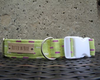 Green Bricks Dog Collars