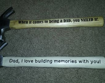 Hammer Fathers Day Gift Personalized