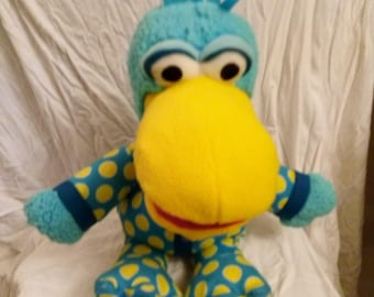 "Vintage Jim Hensons Pajanimals Squacky Large 15"" Plush"