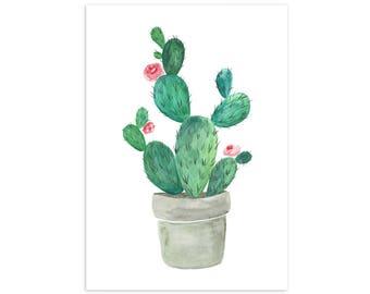 Cactus Pot Print