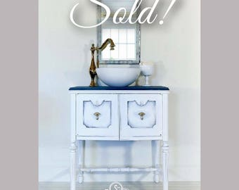 SOLD *** Fancy Farmhouse Bathroom Vanity *** SOLD