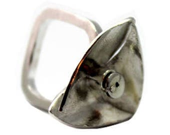"Well being ""Smell"" Reticulated Silver Ring"
