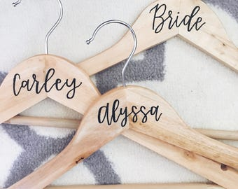 Calligraphy Bridesmaid Hanger | Personalized Wedding Hanger