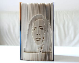 Portrait from his own image - folded book