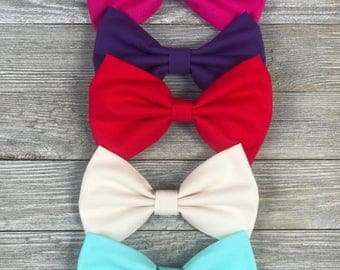 Solid color hair bows