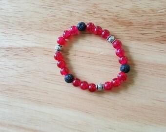 Diffuser Bracelet, Aromatherapy Bracelet, Essential Oil Diffuser Bracelet, Stretchy Bracelet, Beaded Bracelet, Lava Stone Bracelet,