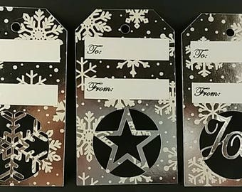 Set of 3 holiday gift tags
