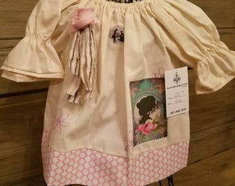 Girls dress, toddler dress, girls peasant dress