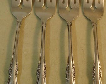 Oneida Stainless Mansfield Four Salad Forks