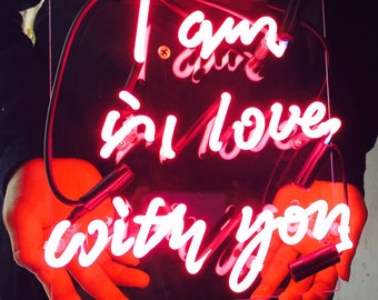 """New 'I'm in love with you' Wedding Love Bar Pub Art Neon Sign 11""""x7"""""""