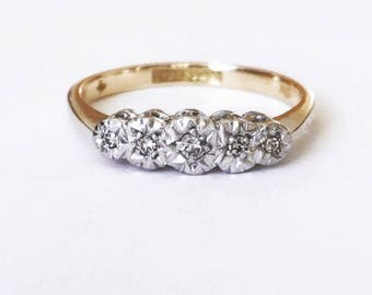 Vintage 18ct & Platinum Diamond Ring