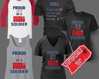 Proud Army National Guard (Family) Shirt, Tank top, or Hoodie - Customizeable