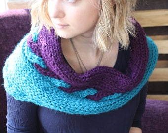 C3 (Colorful Cabled Cowl)