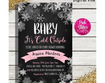 Baby it's Cold Outside Baby Shower, Baby it's Cold Outside Baby Shower Invite, Baby it's Cold Outside, Baby it's Cold Outside Invitation