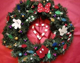 Christmas Mouse - Handmade Christmas Wreath