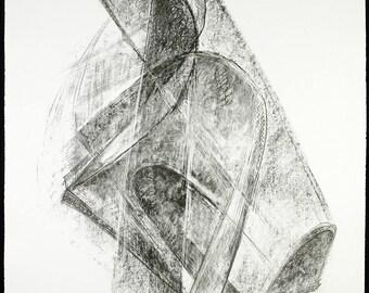 Entwurf für eine Plastik, 1968. Lithograph by Rudolf BELLING