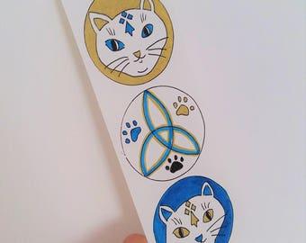 Marque-pages celtique chats