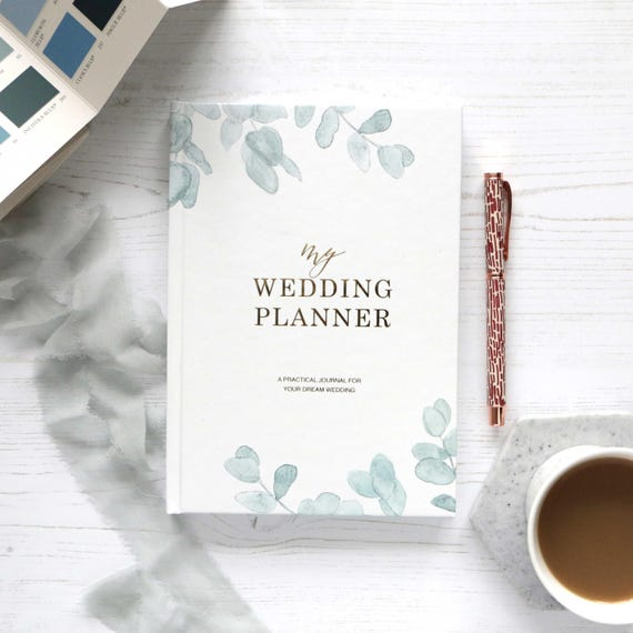 Luxury wedding planner book engagement gift for brides