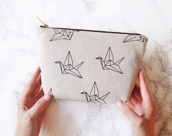 "Cosmetic bag, cosmetic bag ""Paperbirds"" M"
