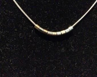 Pretty Silver Tone Necklace