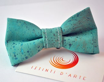 Handmade bow tie made up of  cork fabric