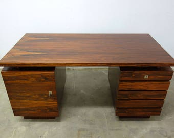 Danish vintage rosewood desk desk mid century design table restored 1960s