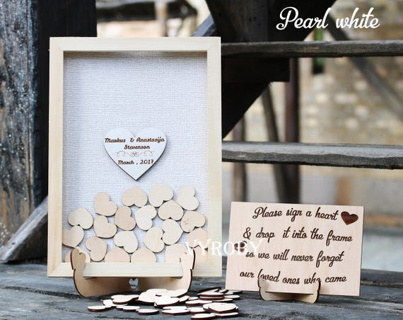 Personalized Wedding Gift Rustic Wedding Guest Book
