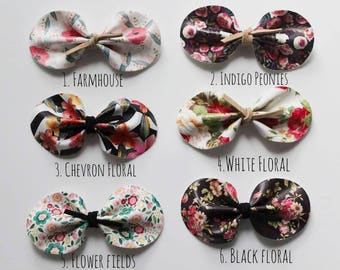 Oval Bow || Headband bow || Hair accessories || Baby girl || Baby shower || Gift for baby girl || Photo prop || Fabric bow || Felt bow