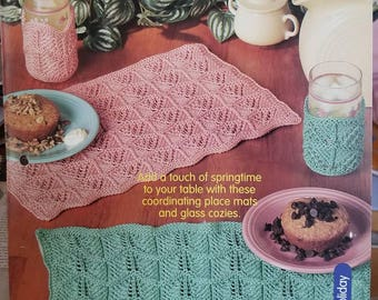 2001 House of White Birches Dueling Lace Placemats Original Knitting Pattern Leaflet Not a PDF