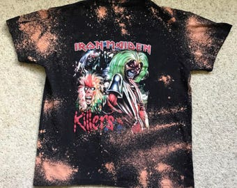 Iron Maiden Bleached Band Tee Size:Med