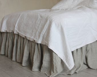 Linen Duvet Cover  Twin Single Full Double Queen King CalKing size Natural duvet cover with buttons