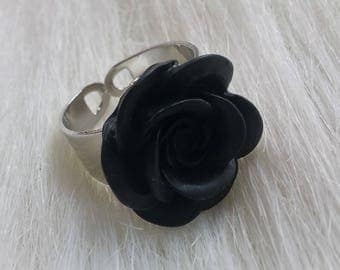 rose ring wide band - various colours