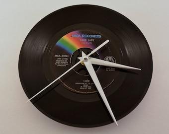 "Cher -- Dark Lady, 7"" Vinyl Clock"