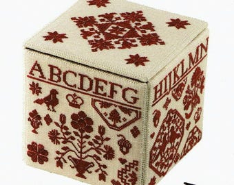 Quaker Needlework Box by With My Needle Counted Cross Stitch Pattern/Chart