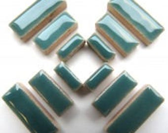 Ceramic Rectangle - Teal Green - 50g / 1.75 oz (approx. 60 pieces) (approx. 60 pieces)