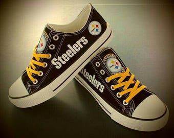 Pittsburg Steelers Canvas (non converse) FULL SIZES ONLY