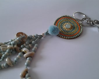 Jewelry bag or turquoise key holder