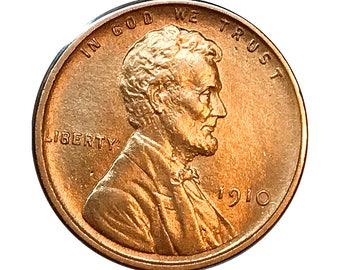 1910 P Lincoln Wheat Cent - Gem BU / MS RD / Unc