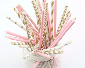 Party straws paper straw