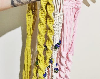 Coloured Macramé Hanger