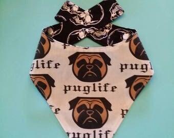 Pug Bandana / Dog Neckchief / Designer Dog Bandana / Bandana / Designer Dog Neckchief