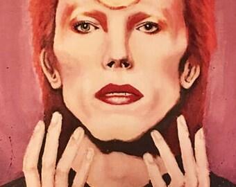 David Bowie tribute print